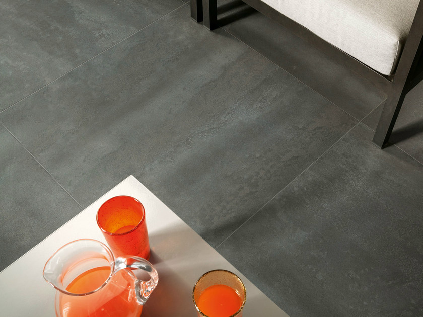 Porcelain stoneware wall/floor tiles with metal effect CULT GRIS by EDIMAX CERAMICHE