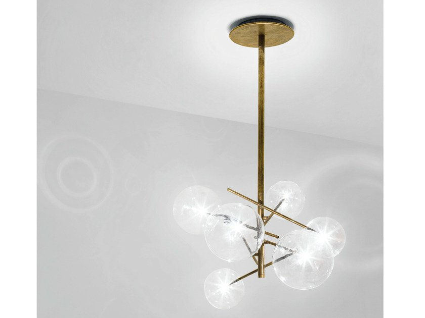 Halogen brass pendant lamp BOLLE by Gallotti&Radice