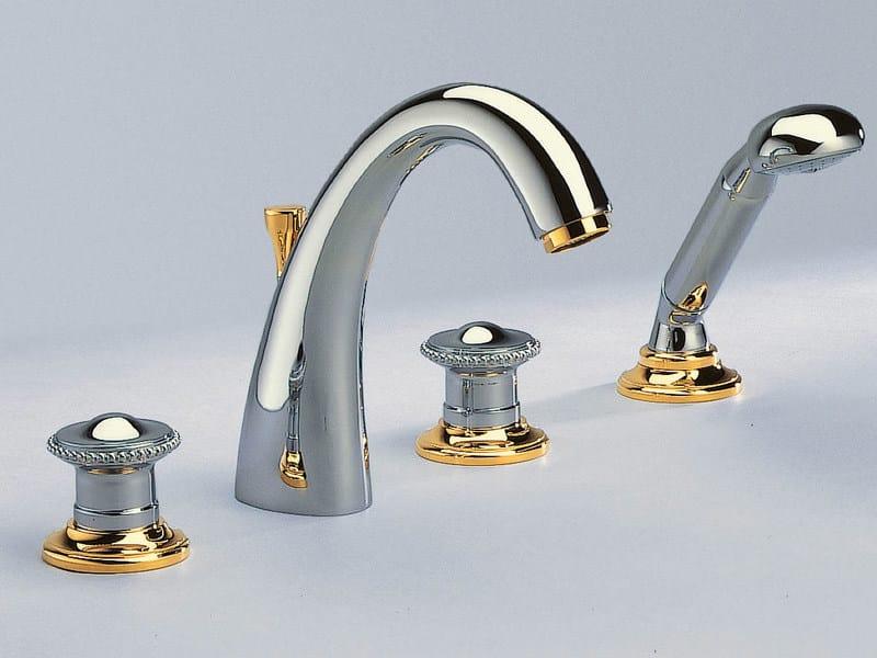 4 hole bathtub set with hand shower VENDOME | Bathtub set by INTERCONTACT