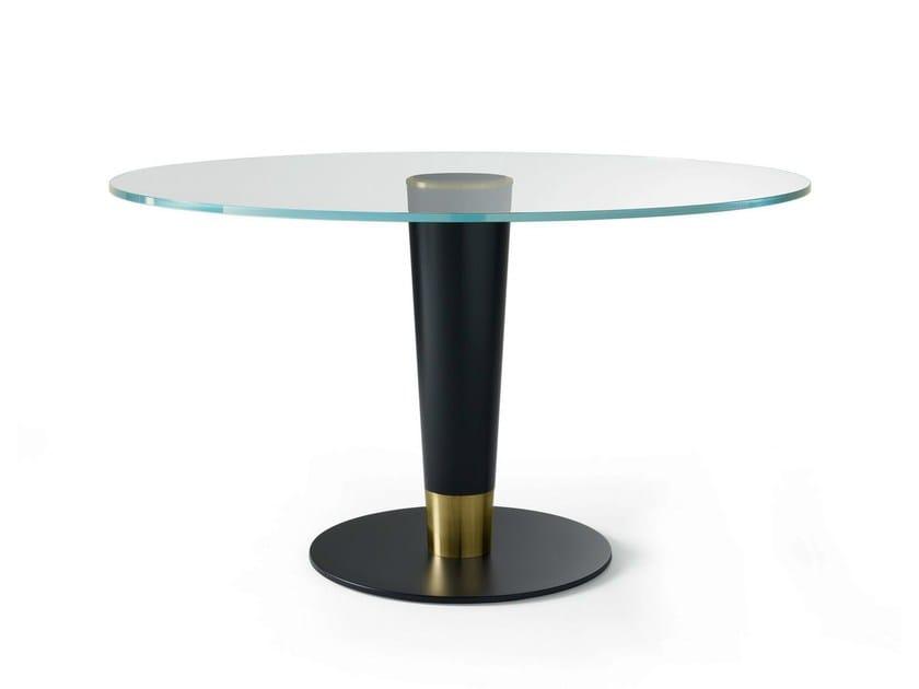 Tavolo rotondo in cristallo UPSIDE 14 By Gallotti&Radice