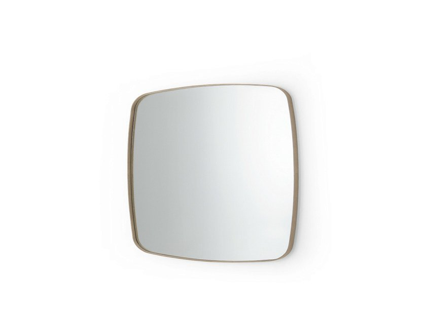 Square wall-mounted framed mirror SOFT by Gallotti&Radice