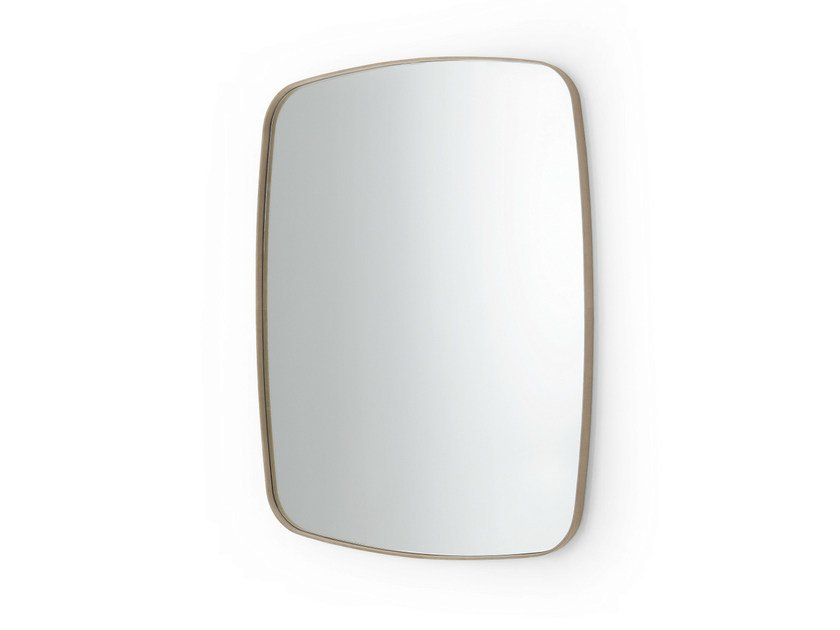 Rectangular wall-mounted framed mirror SOFT by Gallotti&Radice