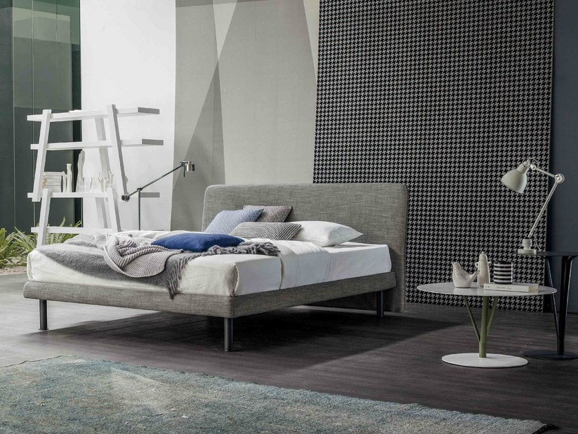 Fabric double bed with upholstered headboard DREAM ON by Bonaldo