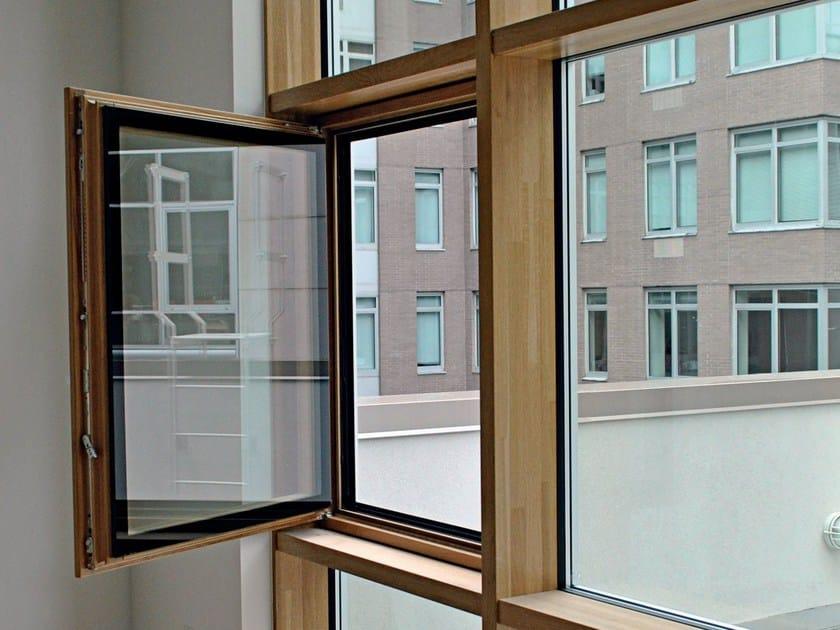 Wooden casement window D WALL   Wooden window by De Carlo
