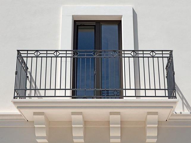 Wooden patio door EXTER ALU CLASSIC by De Carlo