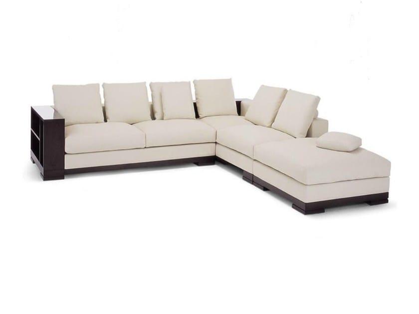 Corner sofa with integrated magazine rack HADRIEN | Sofa by HUGUES CHEVALIER