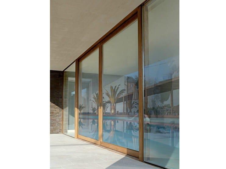 Wooden sliding window LEGNO WGLASS by De Carlo