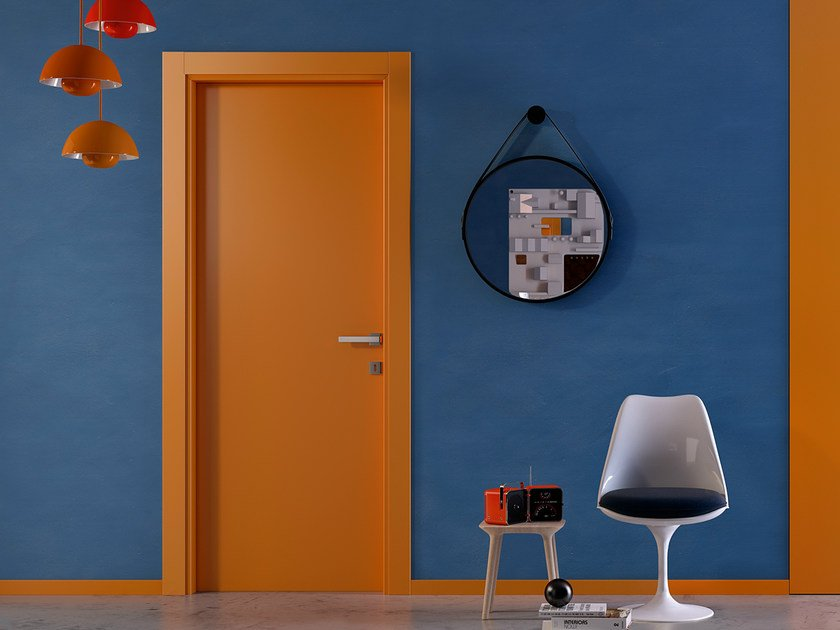 Hinged lacquered door PIANIA 1L by GIDEA