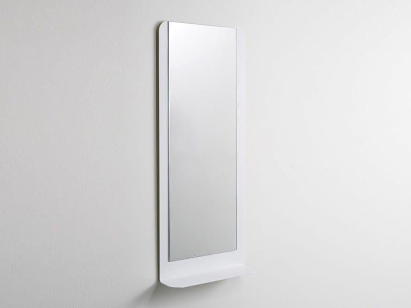 Rectangular wall-mounted bathroom mirror FOGLIO 120 by Ex.t