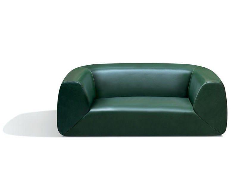 2 seater leather sofa GRAVITÀ | Leather sofa by MissoniHome