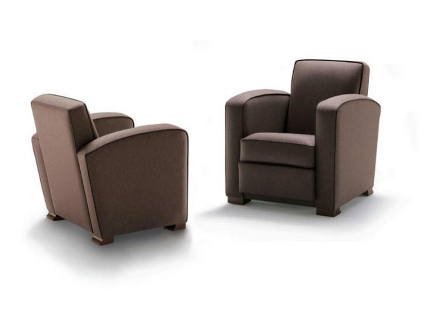 Upholstered armchair with armrests ORSON | Armchair by HUGUES CHEVALIER