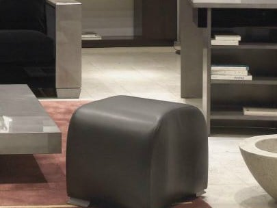 Pelle In Chevalier Hugues IconicPouf Imbottito ONPZ08nkwX