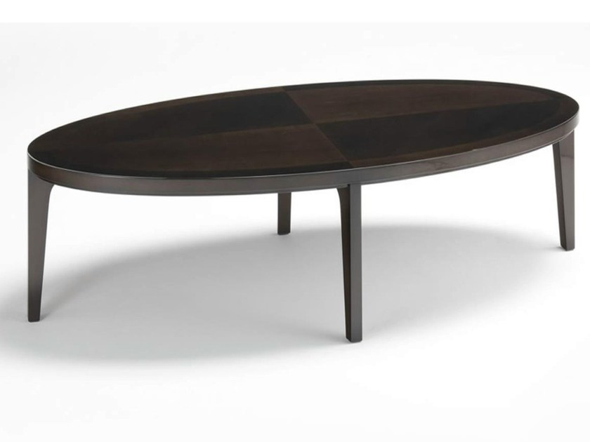 Oval wooden coffee table VENDOME | Coffee table by HUGUES CHEVALIER