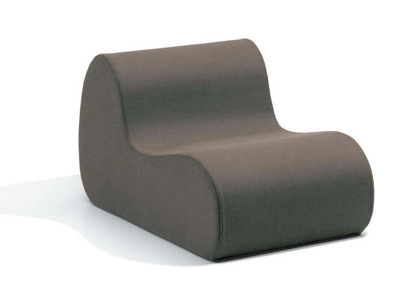 Upholstered fabric armchair with removable cover VIRGOLA   Fabric armchair by MissoniHome