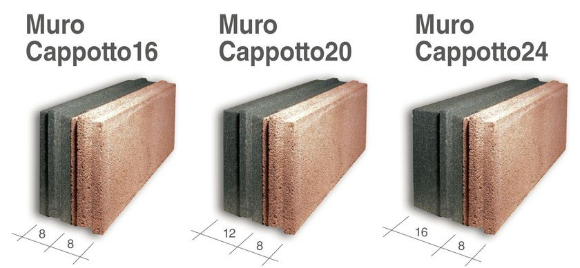 Thermal concrete block LECABLOCCO MUROCAPPOTTO by LecaSistemi