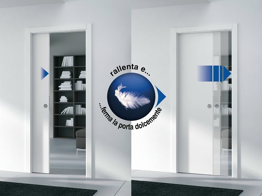 System for slow sliding door closure RALLENTY SOFT by Eclisse