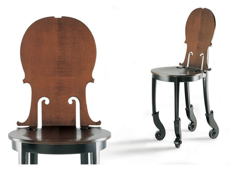 Wooden chair CELLO | Chair by HUGUES CHEVALIER