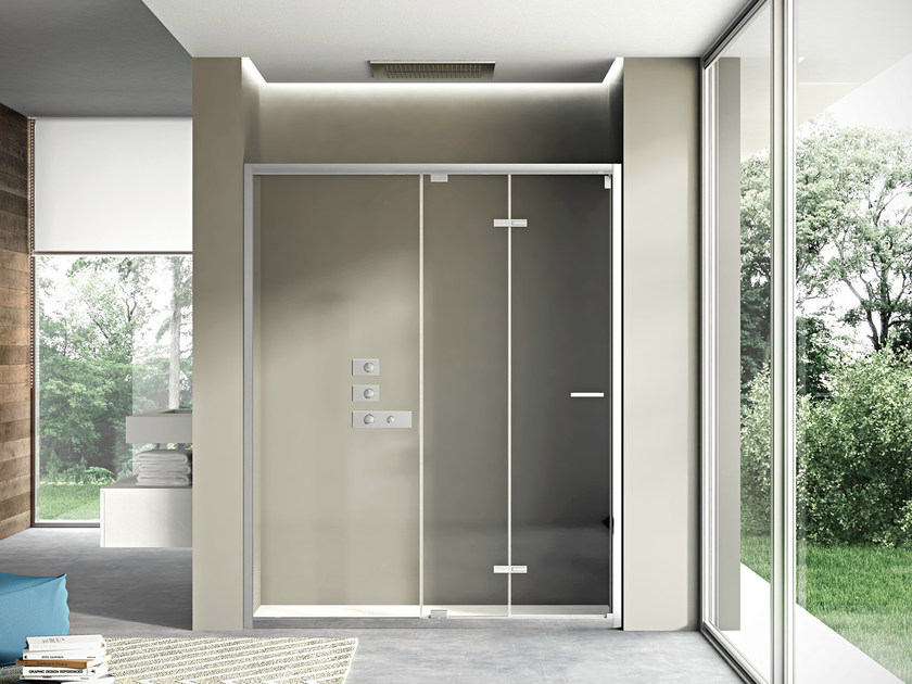 Niche shower cabin with folding door LIKE 06 by DISENIA