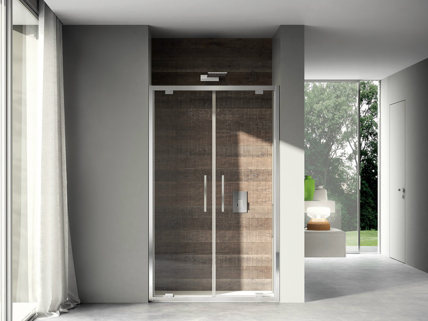 Niche shower cabin with pivot door LIKE 02 by DISENIA