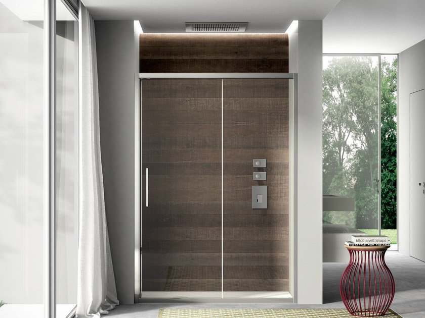 Niche shower cabin with sliding door LIKE 04 by DISENIA