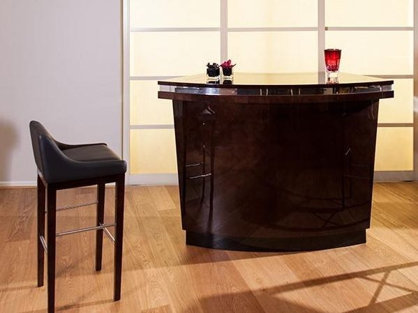 Lacquered wooden bar cabinet FRANKLIN | Bar cabinet by HUGUES CHEVALIER