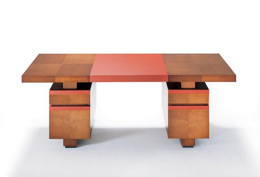 Contemporary style rectangular wooden writing desk TAIPAN | Writing desk by HUGUES CHEVALIER