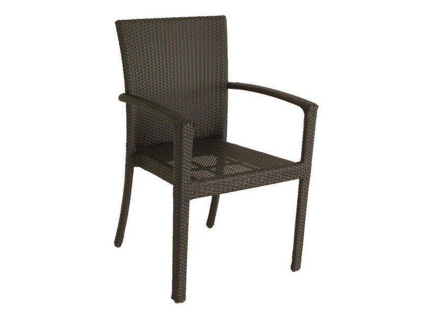 Garden chair with armrests ALASSIO | Chair with armrests by Mediterraneo by GPB