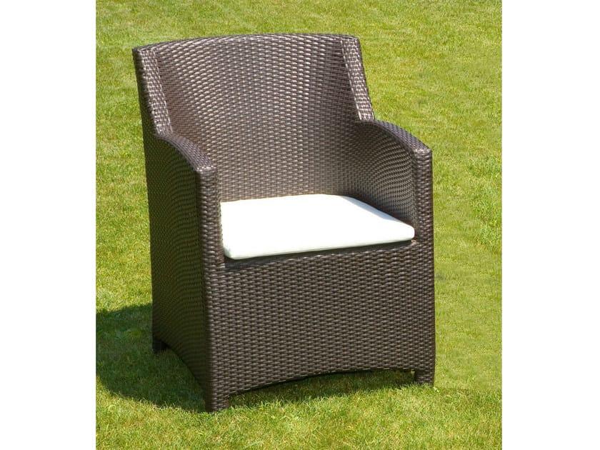 Garden armchair with armrests ALASSIO | Garden armchair by Mediterraneo by GPB
