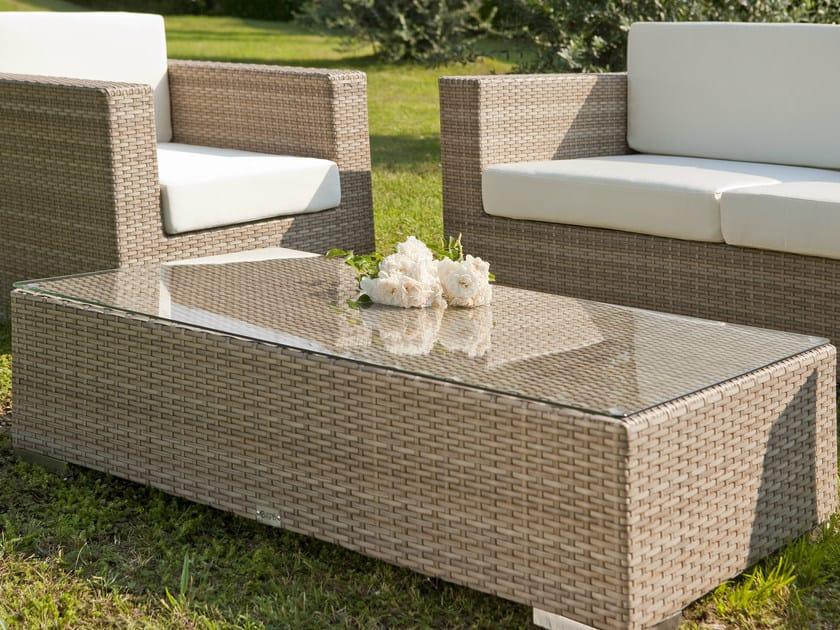 Rectangular garden side table RODI | Garden side table by Mediterraneo by GPB