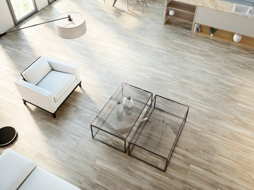 Ultra thin Techlam® wall/floor tiles with wood effect WOOD ASH by Levantina
