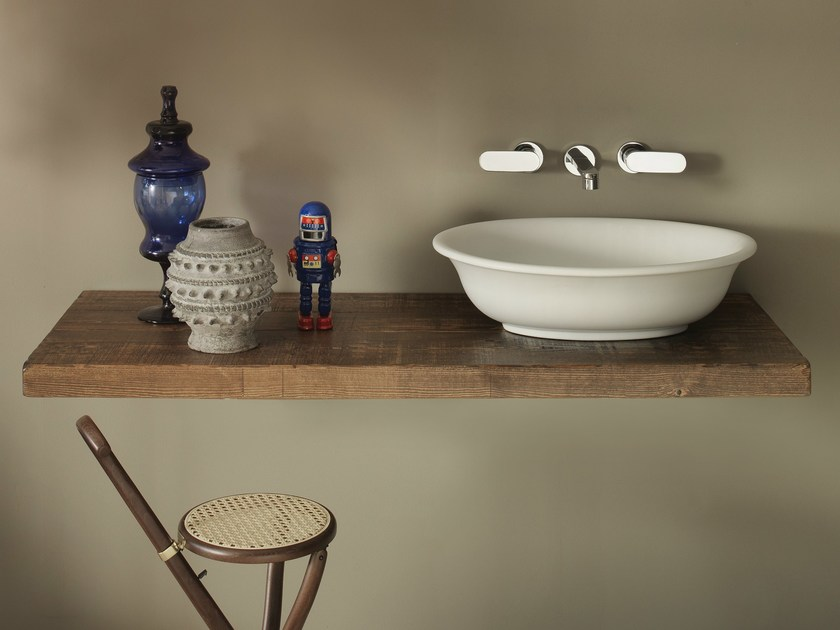 Solid wood washbasin countertop SOLID | Solid wood washbasin countertop by CERAMICA FLAMINIA