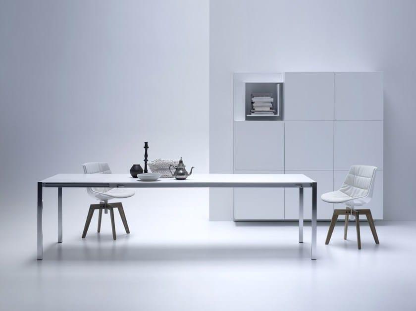 HI-MACS® - Design di mobili EXT Table -Design: Bruno Fattorini - Fabrication: MDF Italia - Photo Credits: Controluce Studio Fotografico