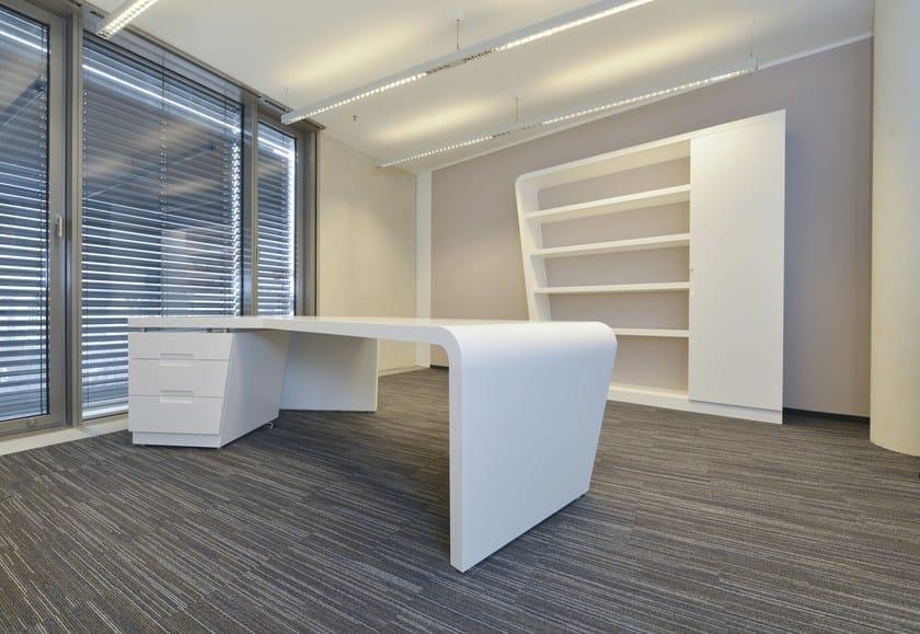 HI-MACS® - Sanità & Scuola Cardio Centrum Dusseldorf – Design: bürger albrecht partner (bap), Wuppertal – Fabrication: Tischlerei Woodstar, Odenthal - Photo credit: © bap / Wolf Birke, Wuppertal