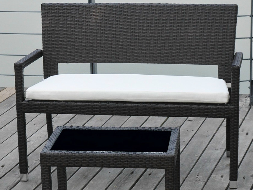 Garden bench with armrests RODI | Garden bench by Mediterraneo by GPB