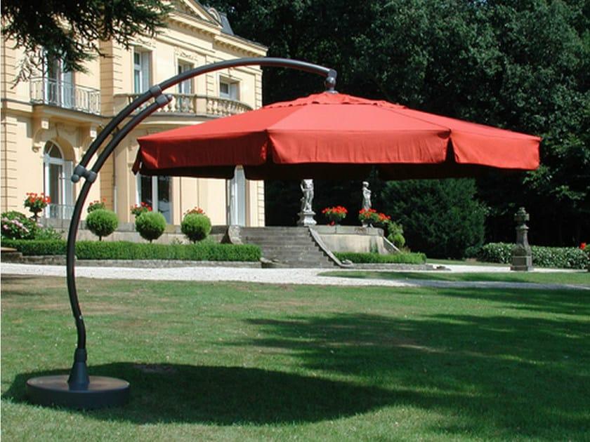 Adjustable round Garden umbrella EASY SUN | Round Garden umbrella by Mediterraneo by GPB