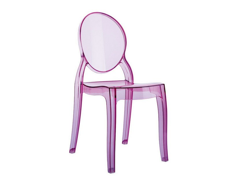 Stackable polycarbonate kids chair ELIZABETH BABY by Mediterraneo by GPB