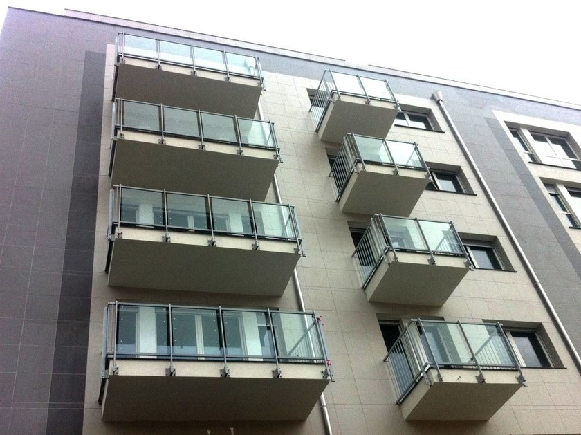 Glass and aluminium Window railing BALBONTIN by ALUSCALAE