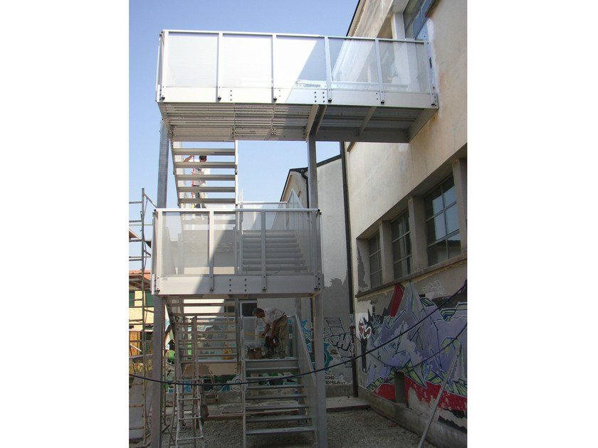 Metal fire escape staircase Fire escape staircase by ALUSCALAE