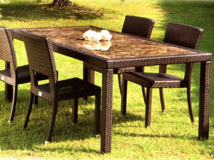 Rectangular garden table ALASSIO | Garden table by Mediterraneo by GPB
