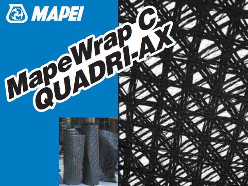 Carbon fibre reinforcing fabric MAPEWRAP C QUADRI-AX by MAPEI