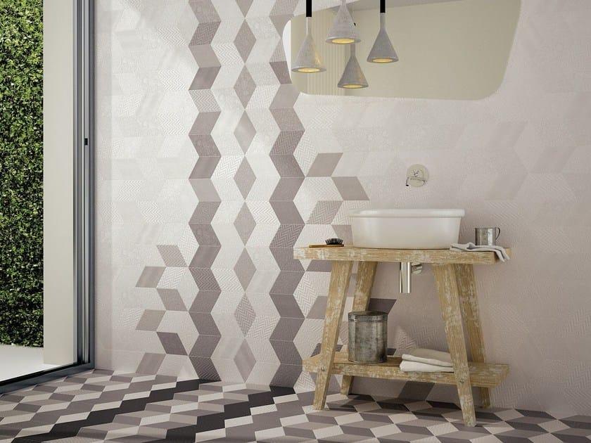 Indoor/outdoor porcelain wall/floor tiles RHOMBUS by EQUIPE CERAMICAS