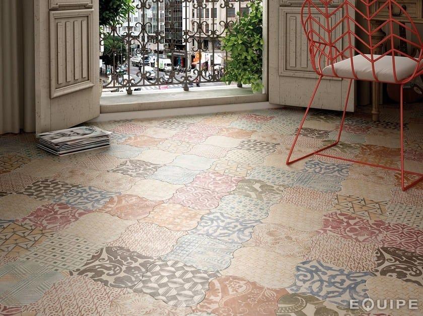 Indoor/outdoor ceramic wall/floor tiles CURVYTILE by EQUIPE CERAMICAS