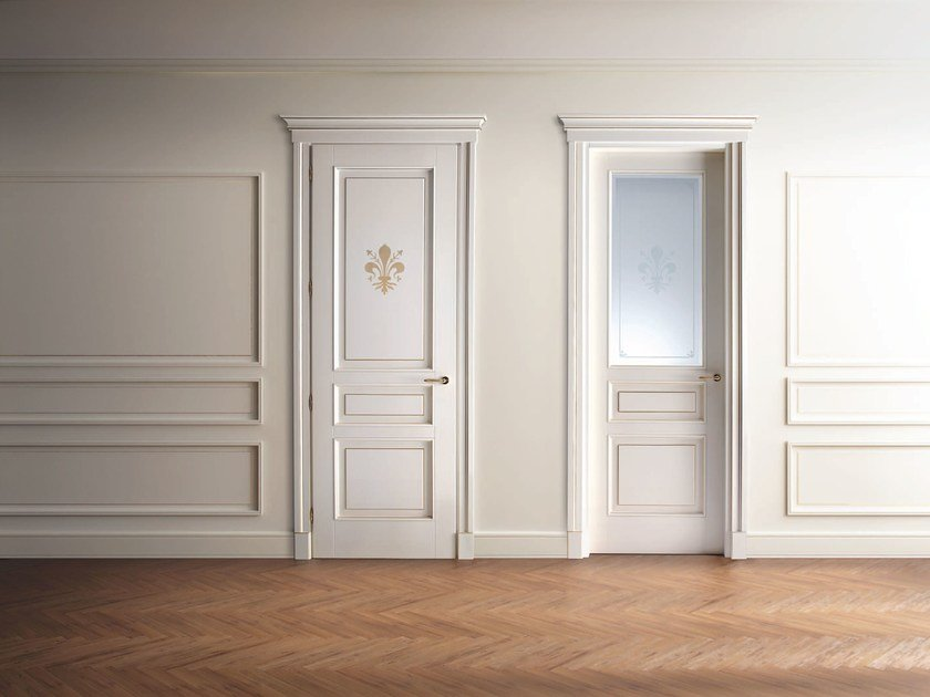 Hinged lacquered wooden door SIENA by Ghizzi & Benatti