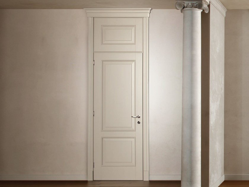 Hinged lacquered wooden door FIRENZE by Ghizzi & Benatti