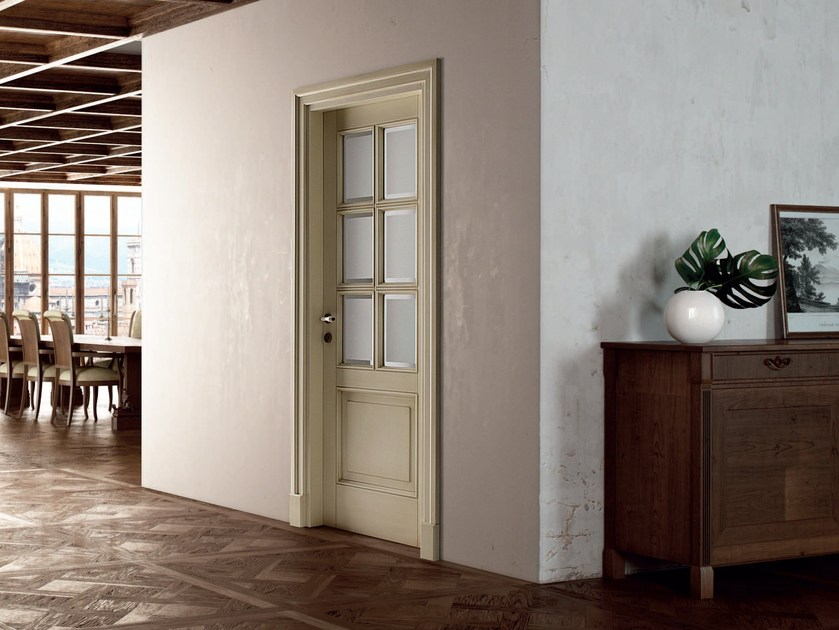 Hinged lacquered wooden door ARNO by Ghizzi & Benatti