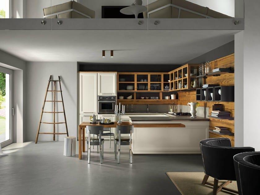 Cucina componibile con penisola LIVING VERANDA - L'Ottocento