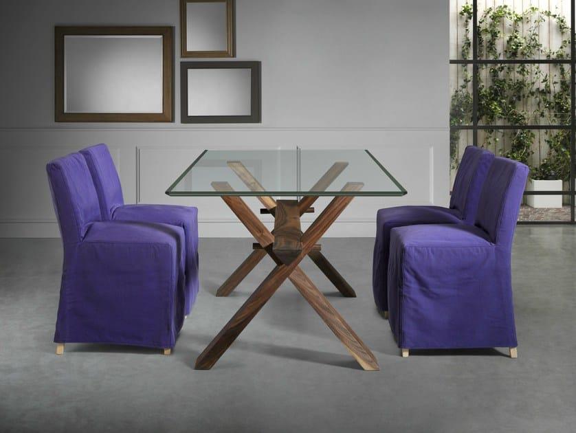 Tavolo in legno e vetro su misura DECIMO   Tavolo in legno e vetro ...
