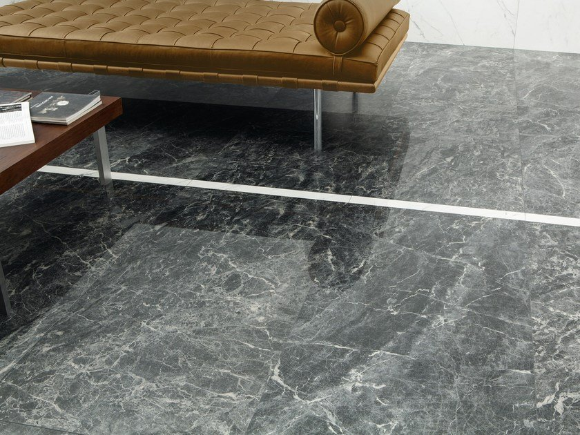 Porcelain stoneware wall/floor tiles with marble effect ANIMA GREY ST. LAURENT by Ceramiche Caesar