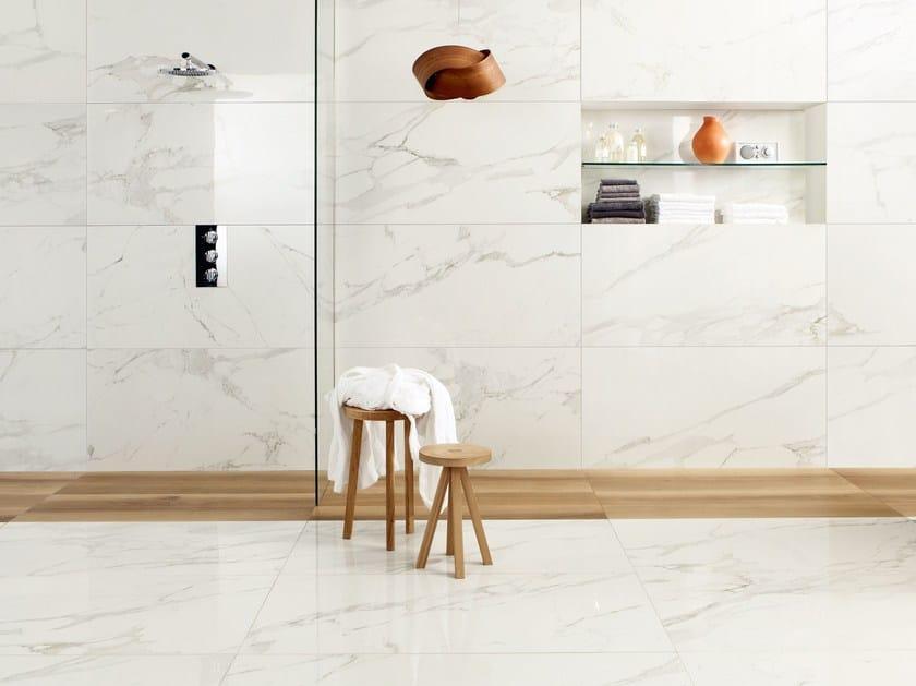 Porcelain Stoneware Wallfloor Tiles With Marble Effect Anima
