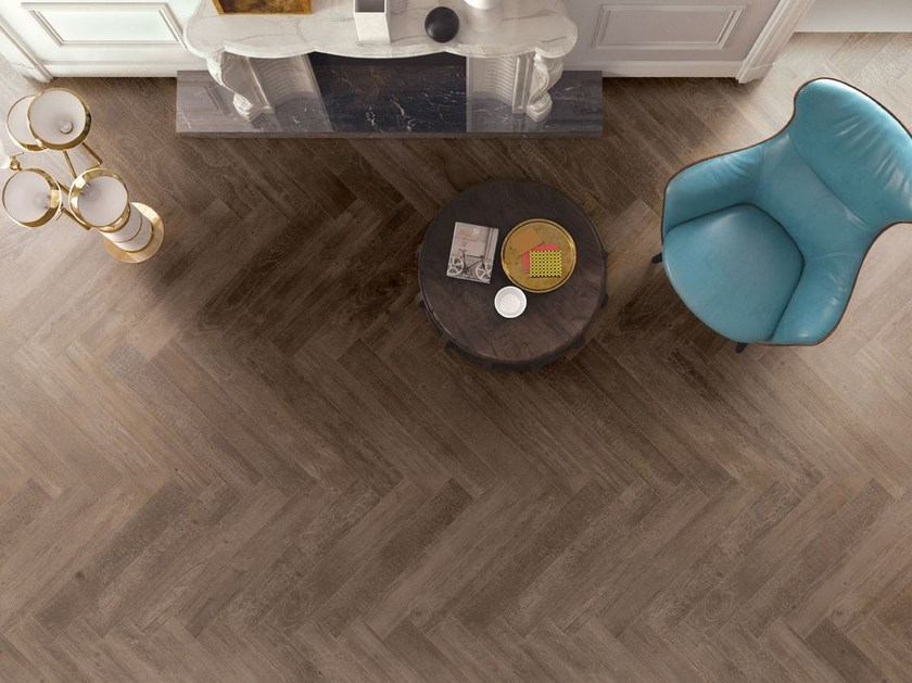 Porcelain stoneware flooring with wood effect SOUL WALNUT by CERAMICHE KEOPE